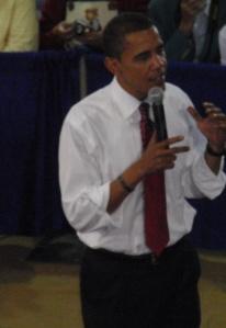 Obama feilding questions